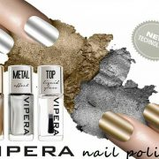 VIPERA lak na nechty Metal Effect – zlatý a strieborný